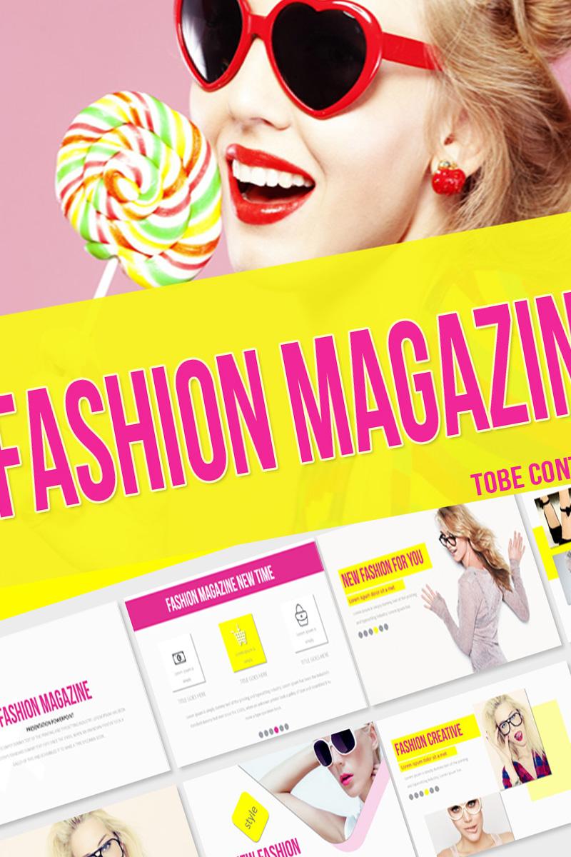 """""""Fashion Magazine -"""" PowerPoint 模板 #75318"""
