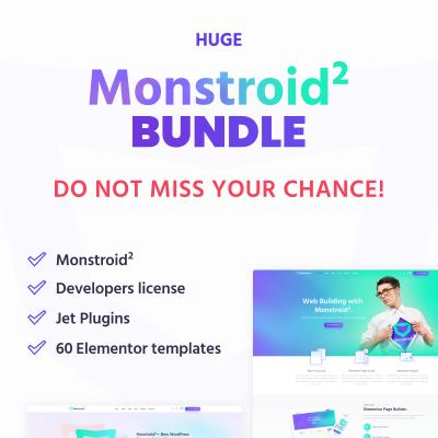 HUGE Monstroid2 Elementor Bundle #75366