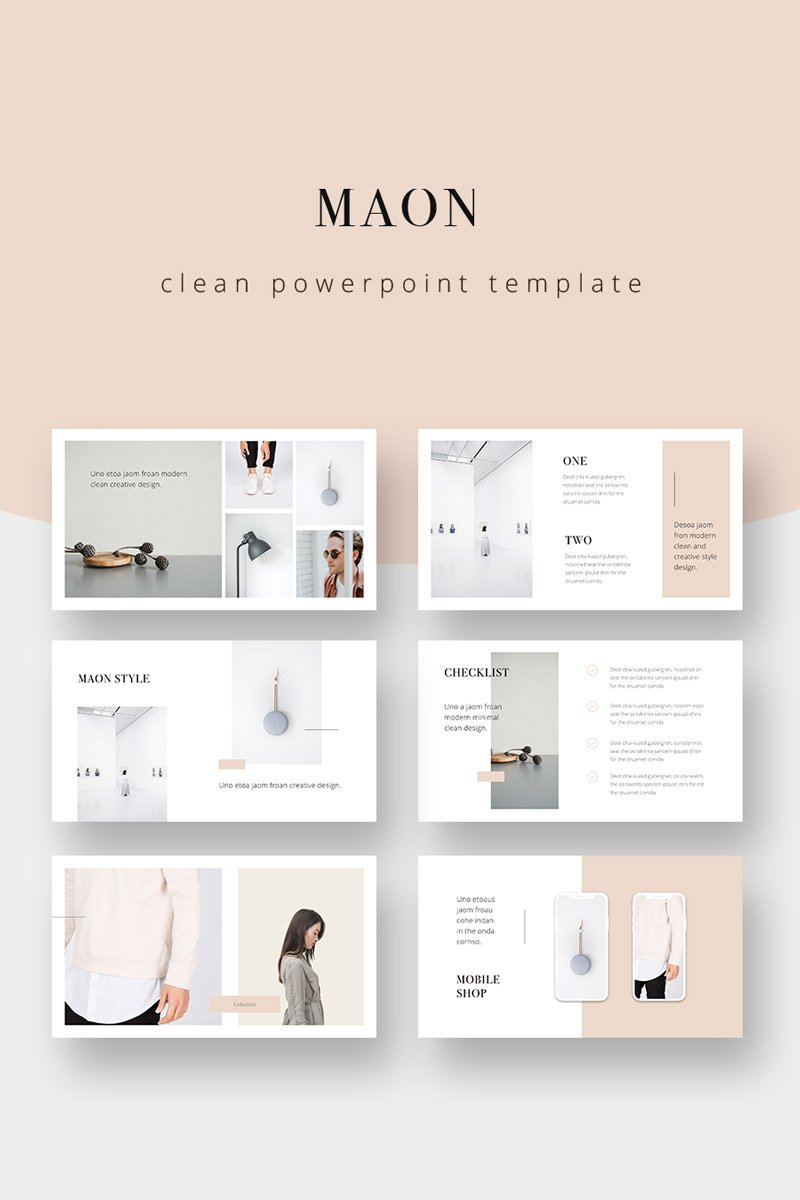 """MAON - Powerpoint Template"" PowerPoint Template №75343"