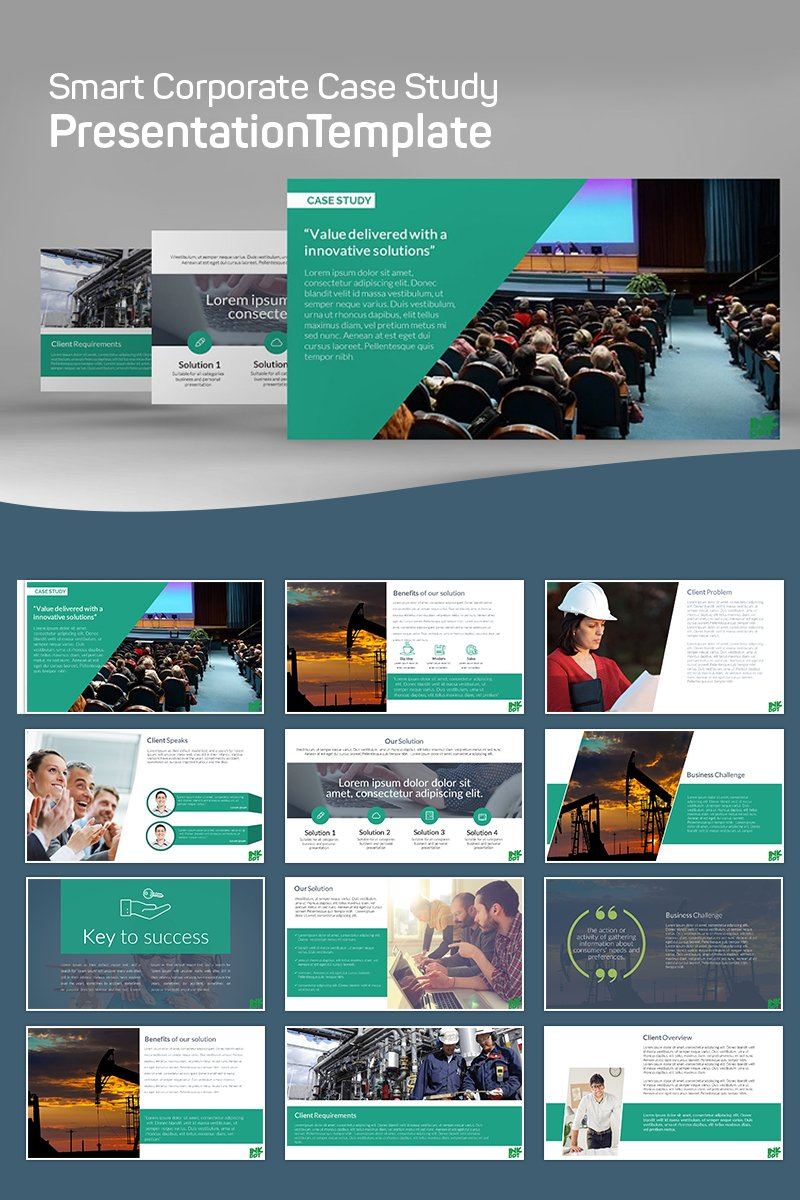 Modern Case Study - PowerPoint Template - screenshot