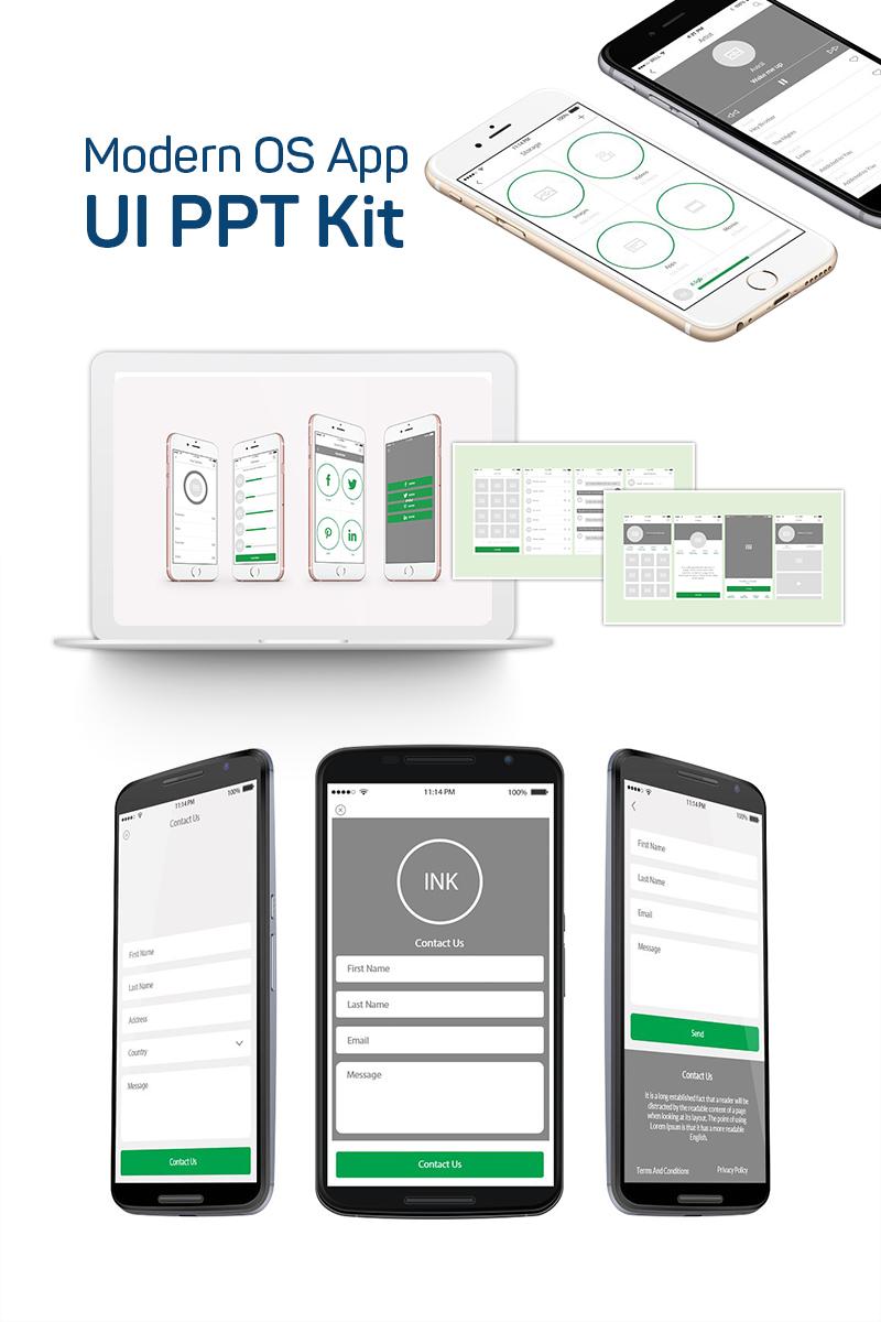 "Plantilla PowerPoint ""Modern OS App UI PPT Kit"" #75340"