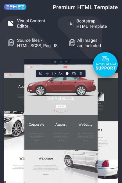 Responsive Plantilla Web #75317 para Sitio de  para Sitio de Concesionarios de coches