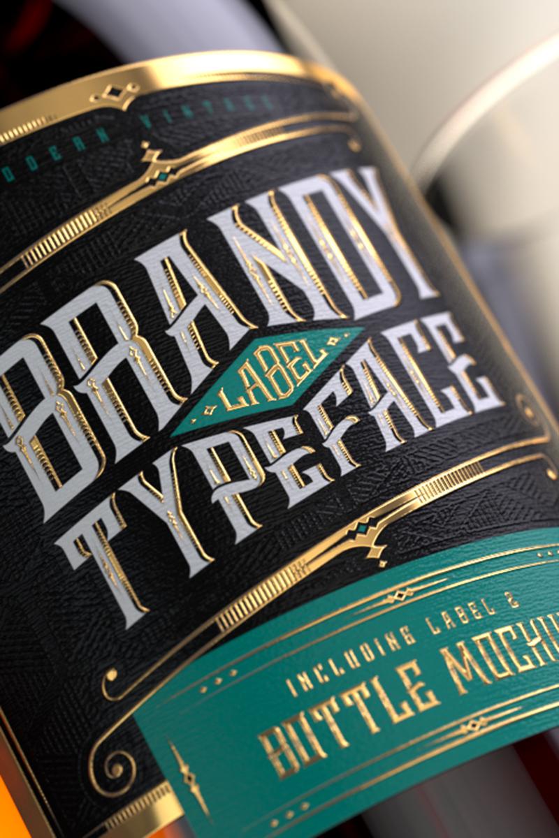 """Schriftart namens """"Brandy Design Set"""" #75300"""