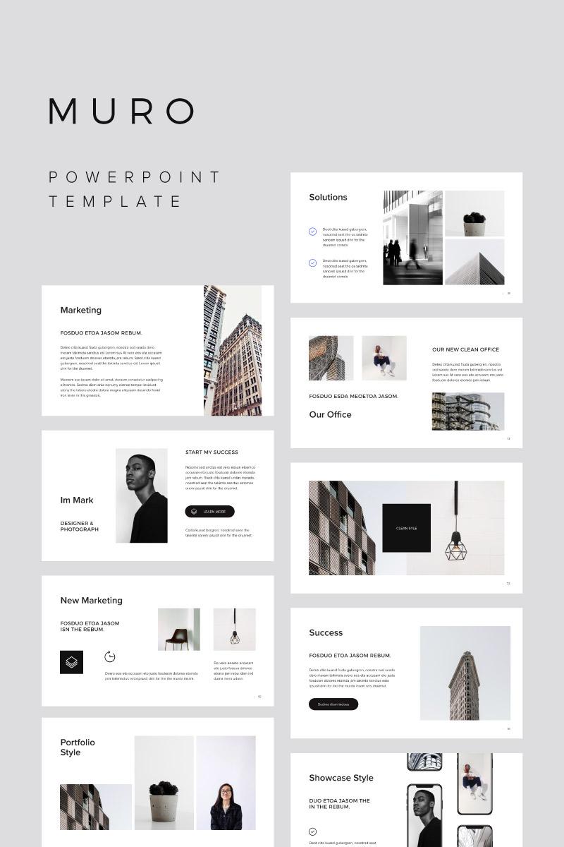 Szablon PowerPoint MURO - #75386