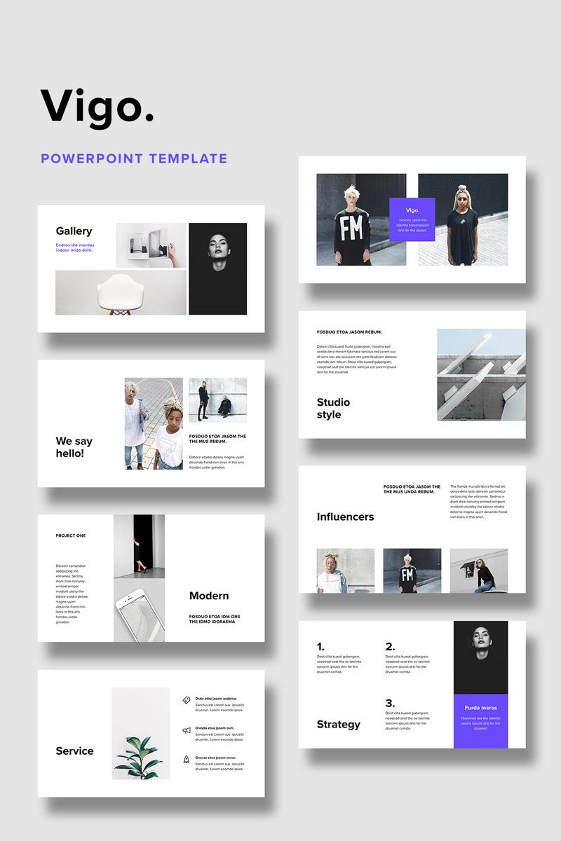 Szablon PowerPoint VIGO + 20 Minimal Stock Photos #75326