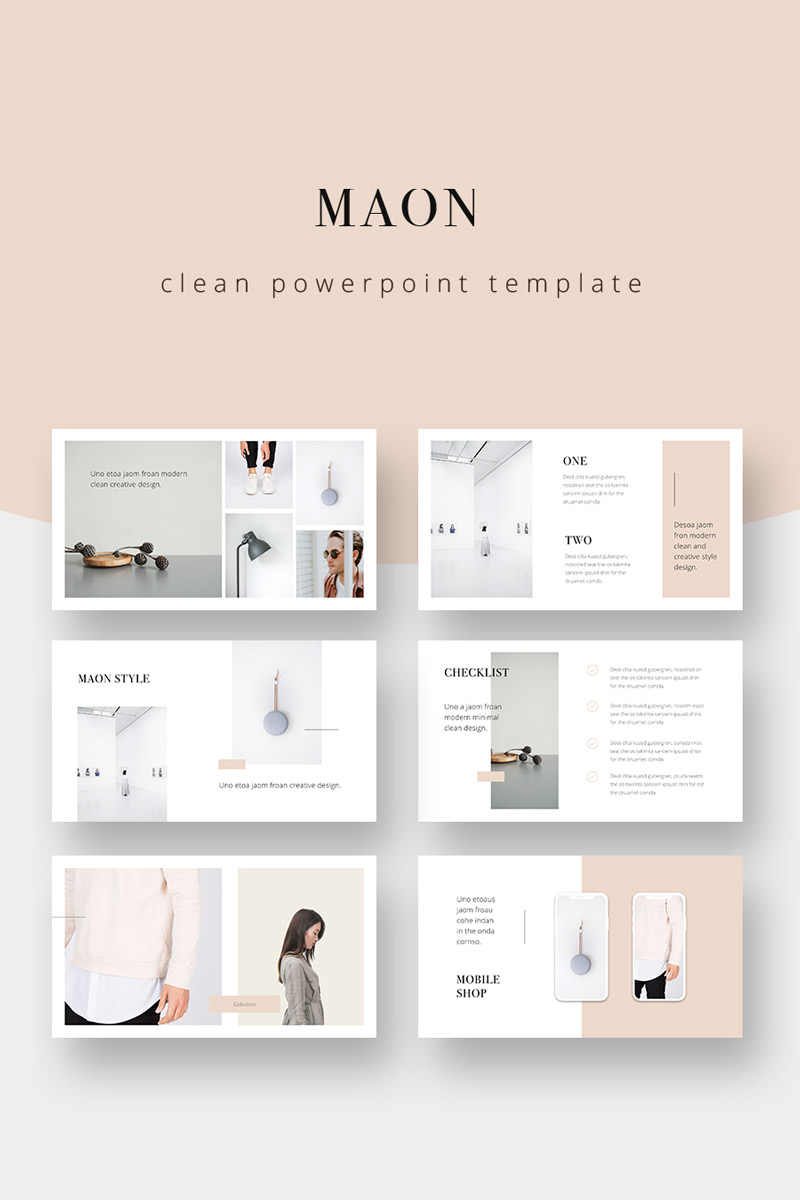 """Template PowerPoint #75343 """"MAON - Powerpoint Template"""""""