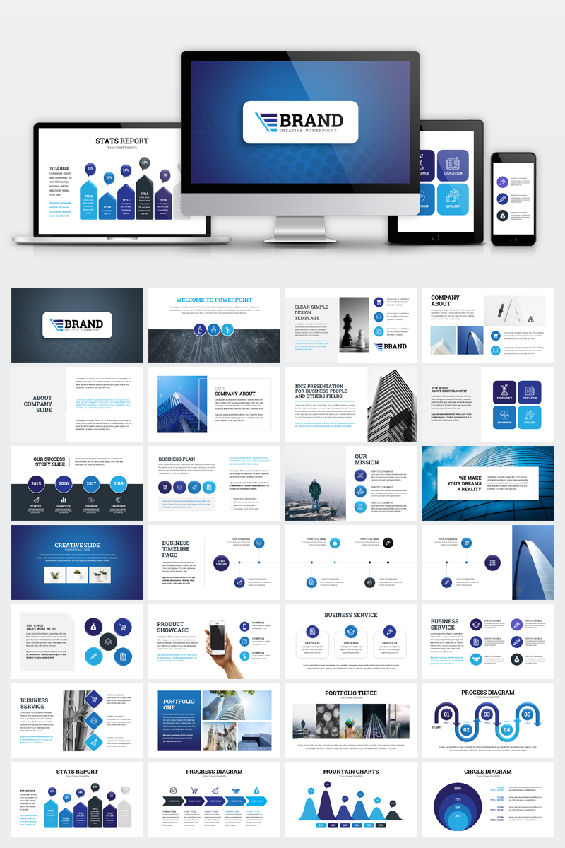 Brand Business Presentation PowerPoint Template