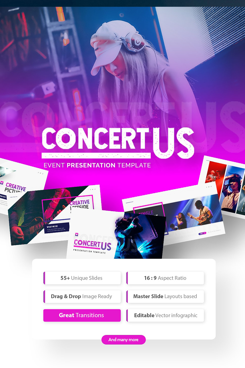 Concertus - Event Template PowerPoint №75492