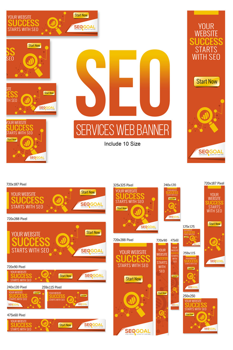 """Modello Animated Banner #75473 """"SEO Services Web Banners & Ads"""""""