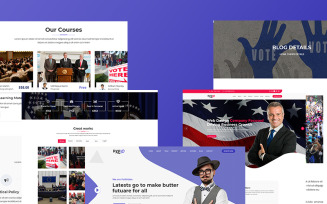 Pxeio – Political Responsive Landing Page Template