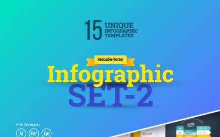 Most Use 3D Set-2 Infographic Element