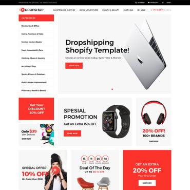 Купить  пофессиональные Shopify шаблоны. Купить шаблон #75569 и создать сайт.