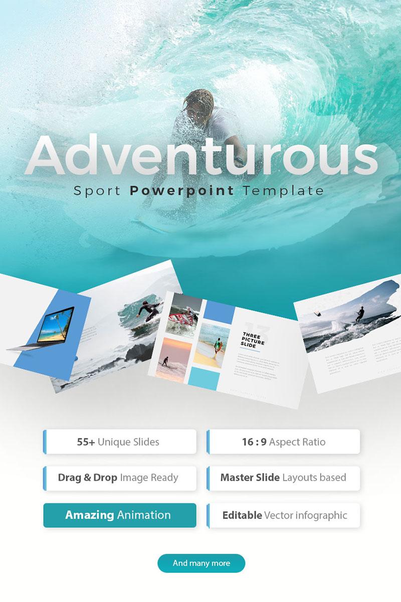 Adventurous - Brush PowerPoint sablon 75515