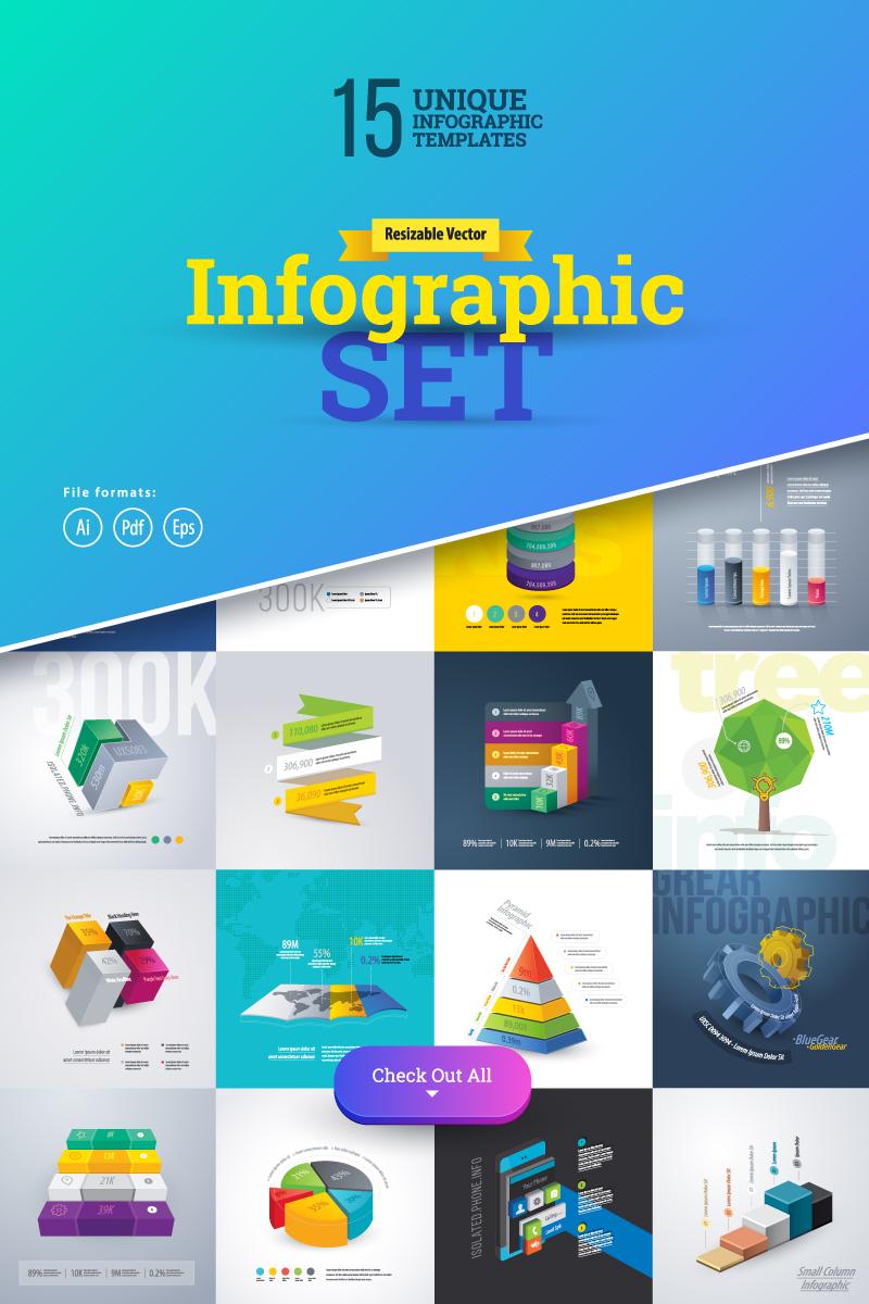 """""""3D Business Infographics Set-01"""" Éléments infographiques  #75558"""