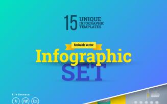 3D Business Infographics Set-01 Elements