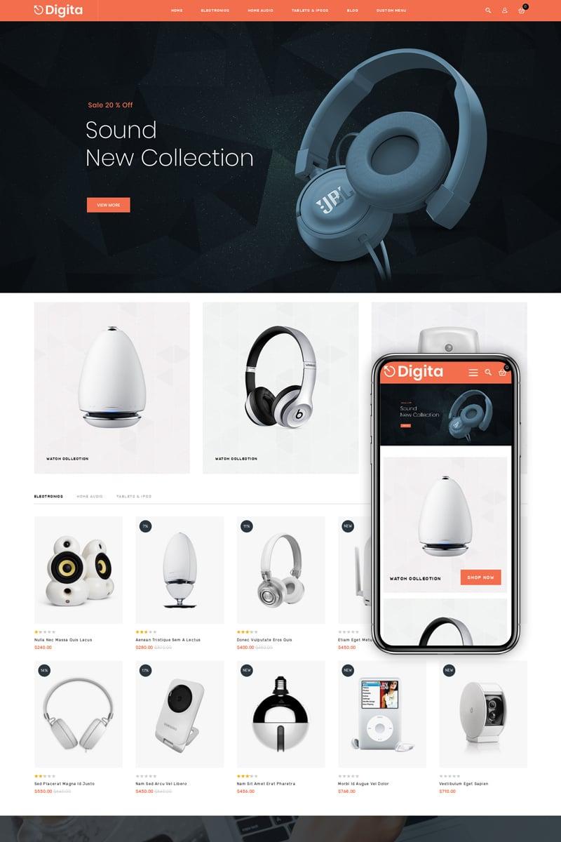 Digita - Electronics Shop Magento sablon 75587