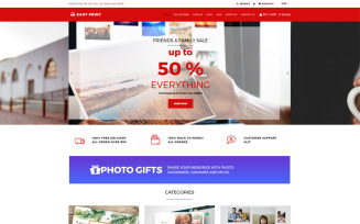 Easyprint - Print Multicurrency Simple Shopify Theme