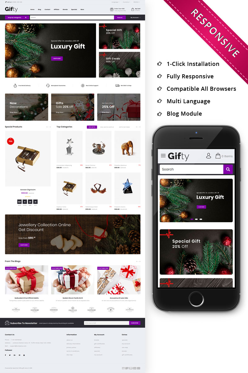 Gifty - The Gift Store Responsive OpenCart Template - screenshot