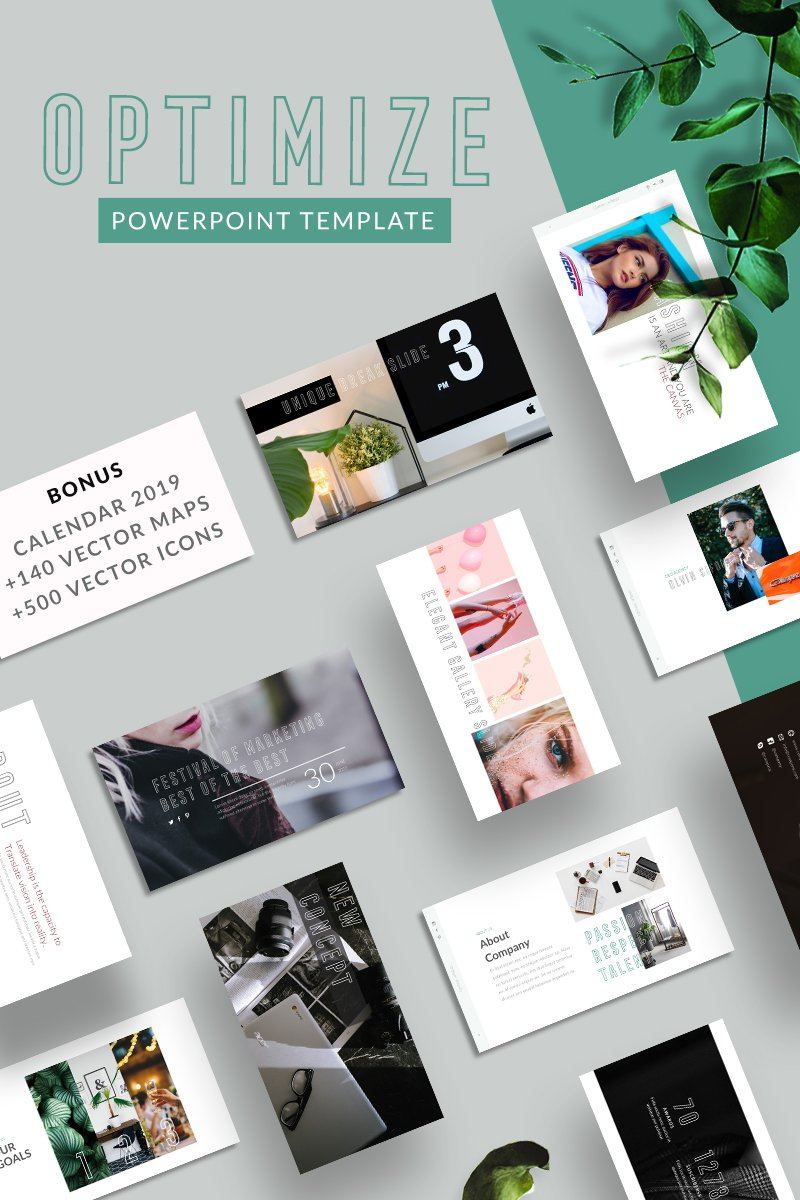 Optimize PowerPoint sablon 75524