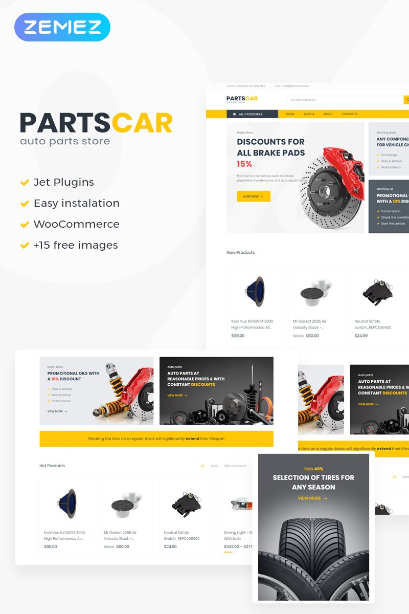 PartsCar - Car Repair Classic Elementor WooCommerce Theme