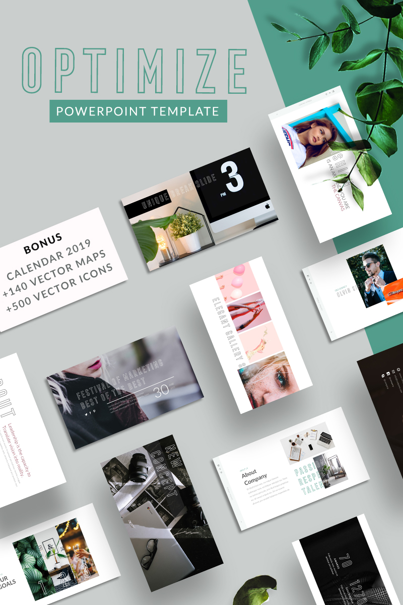 "Plantilla PowerPoint ""Optimize"" #75524"