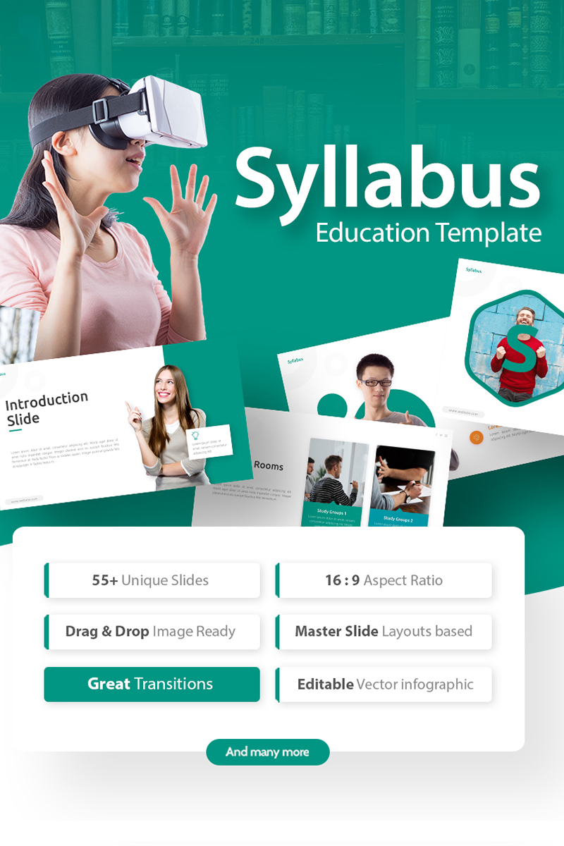 Syllabus - Education PowerPoint Template - screenshot