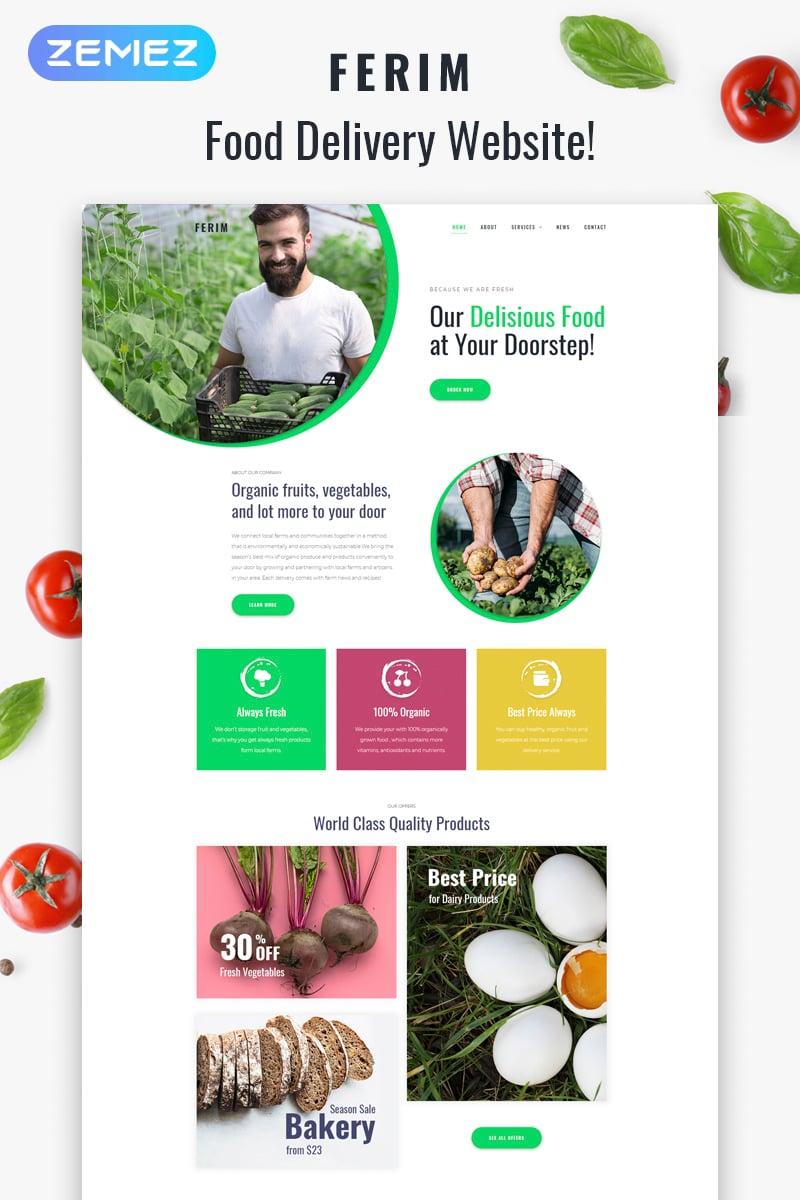 "WordPress Theme namens ""Ferim - Food Delivery Multipurpose Minimal Elementor"" #75523 - Screenshot"