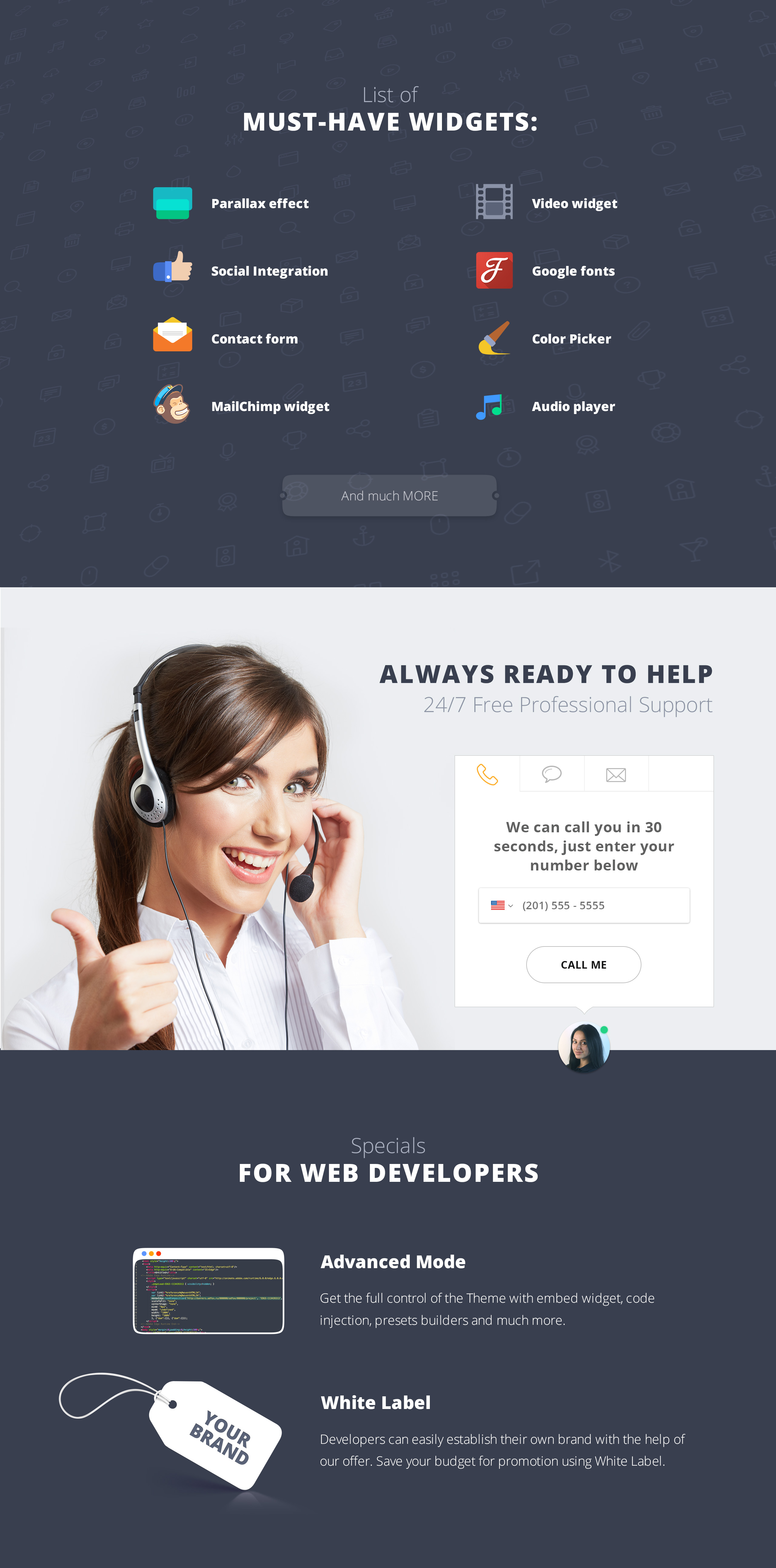 Gravitas - Beauty Expo MotoCMS 3 Landing Page Template
