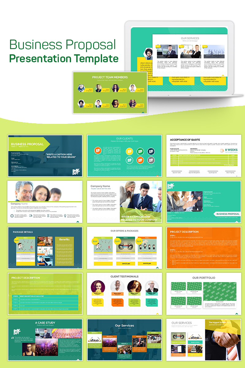 """""""Business Proposal"""" PowerPoint Template №75636"""