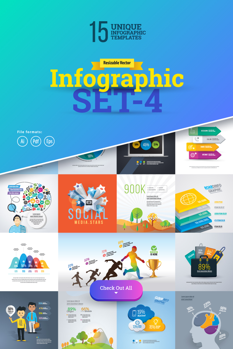 Business Set-04 İnografik Elemanları #75623