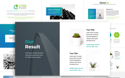 Creative Minimal Presentation PowerPoint template PowerPoint Template