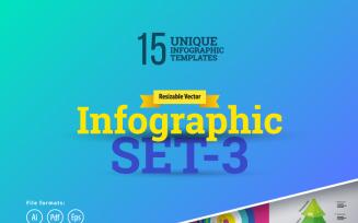 3D Business Set-03 Infographic Elements