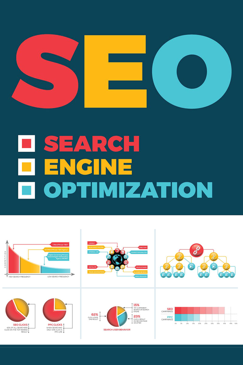 Elementy infografiki Search Engine Optimization Infograph #75652