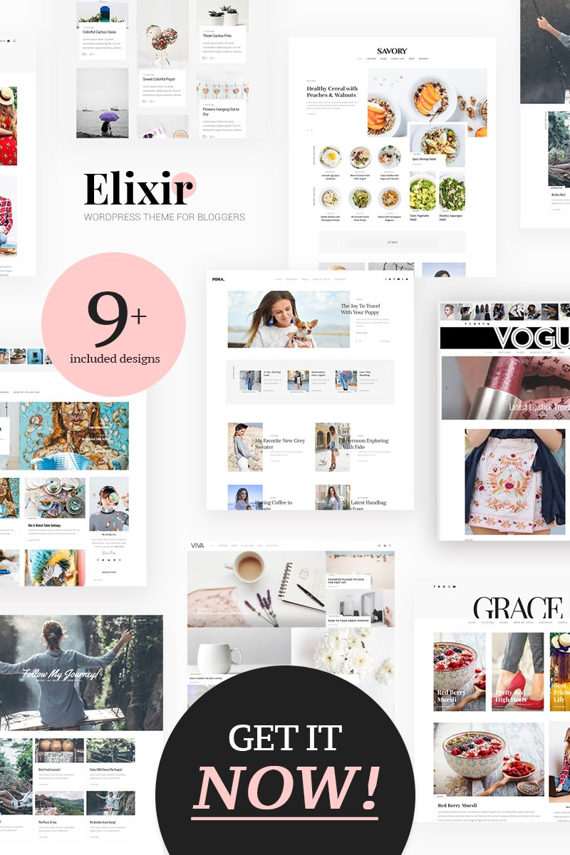 Elixir - Travel, Food, Fashion & Much More! WordPress Theme - screenshot