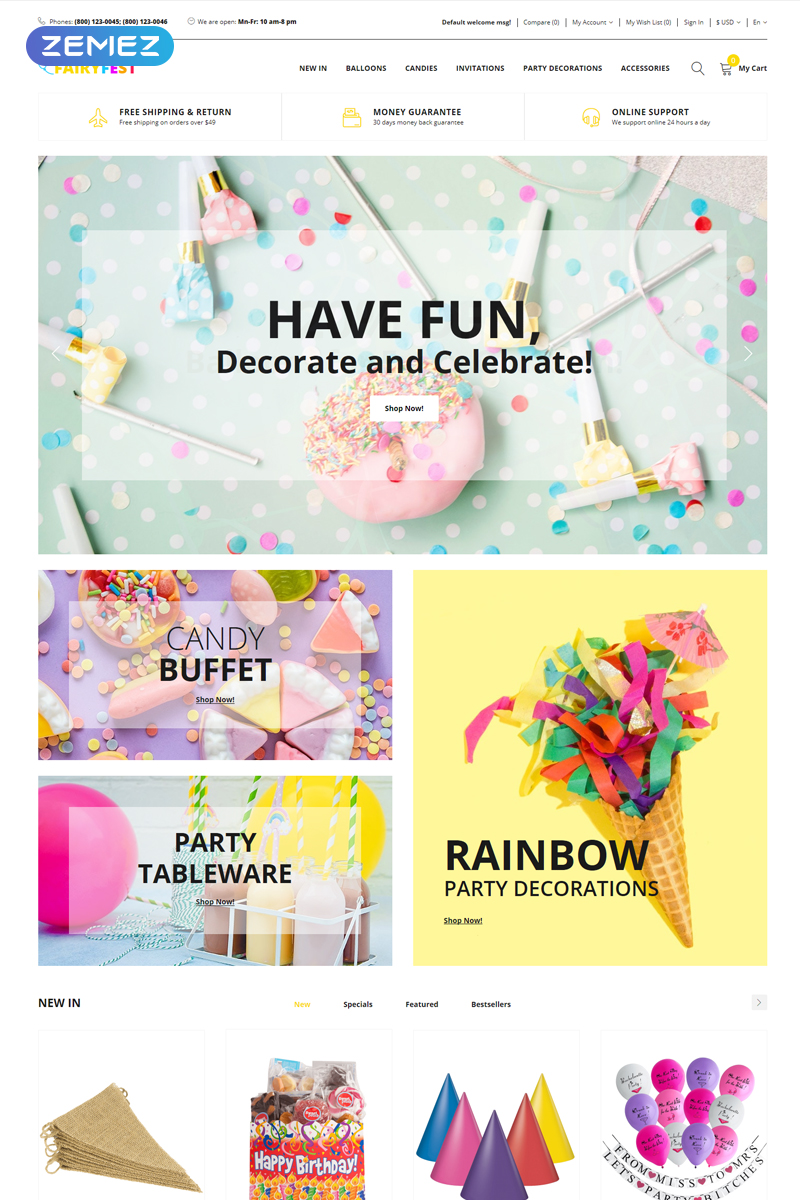 FairyFest - Holiday Store Modern OpenCart Template
