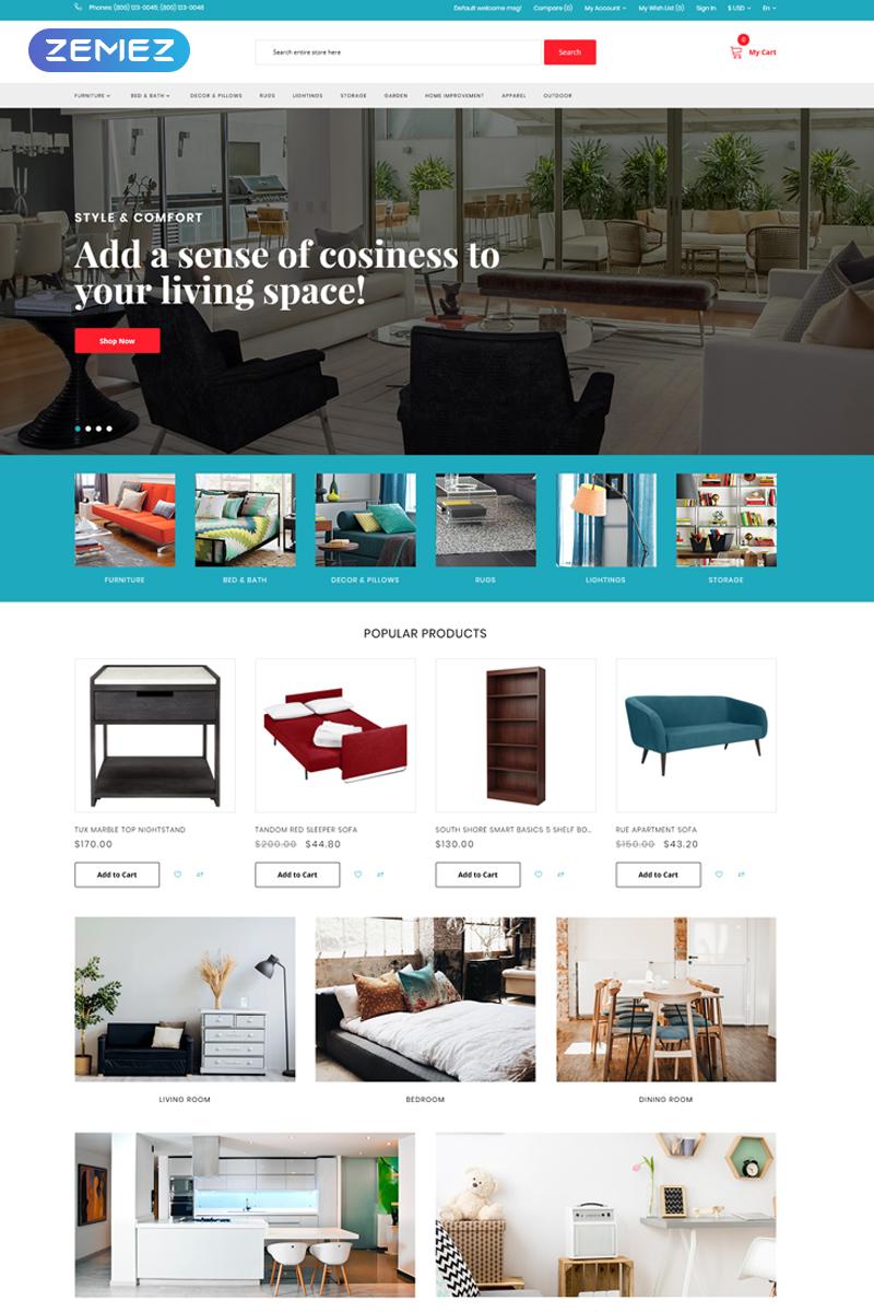 Home Furniture - Interior and Furniture Minimalistic Template OpenCart №75671