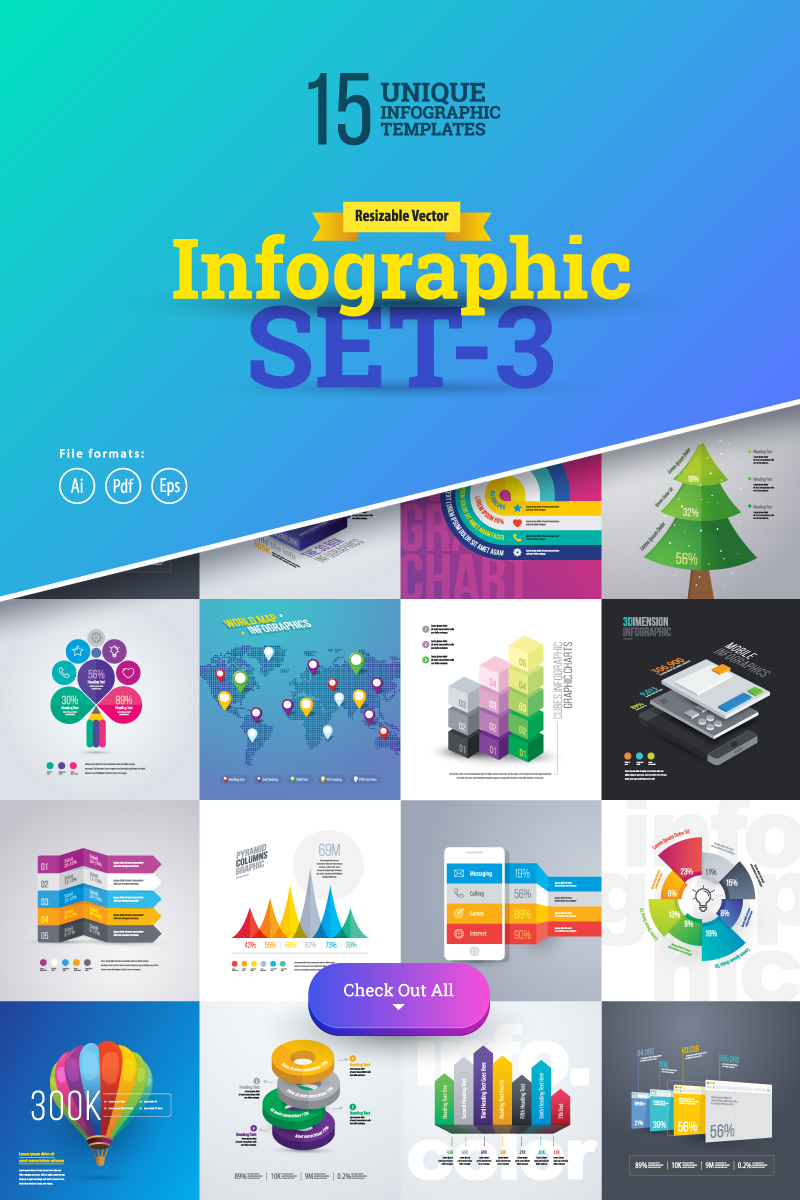 "Infografik-Elemente namens ""3D Business Set-03"" #75624"