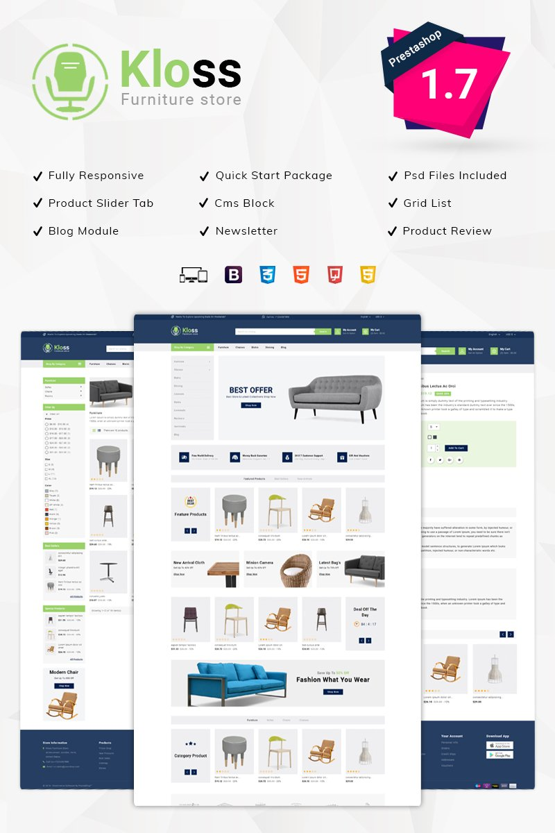 Kloss Furniture PrestaShop Theme