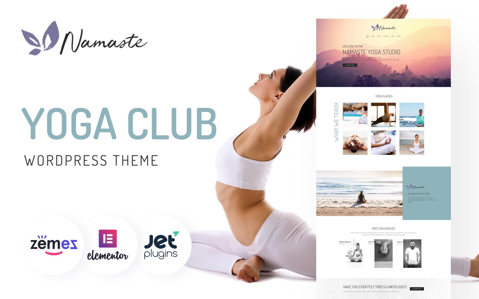 """Namaste - Yoga Studio Ready-to-use Minimal Elementor"" - адаптивний WordPress шаблон №75651"