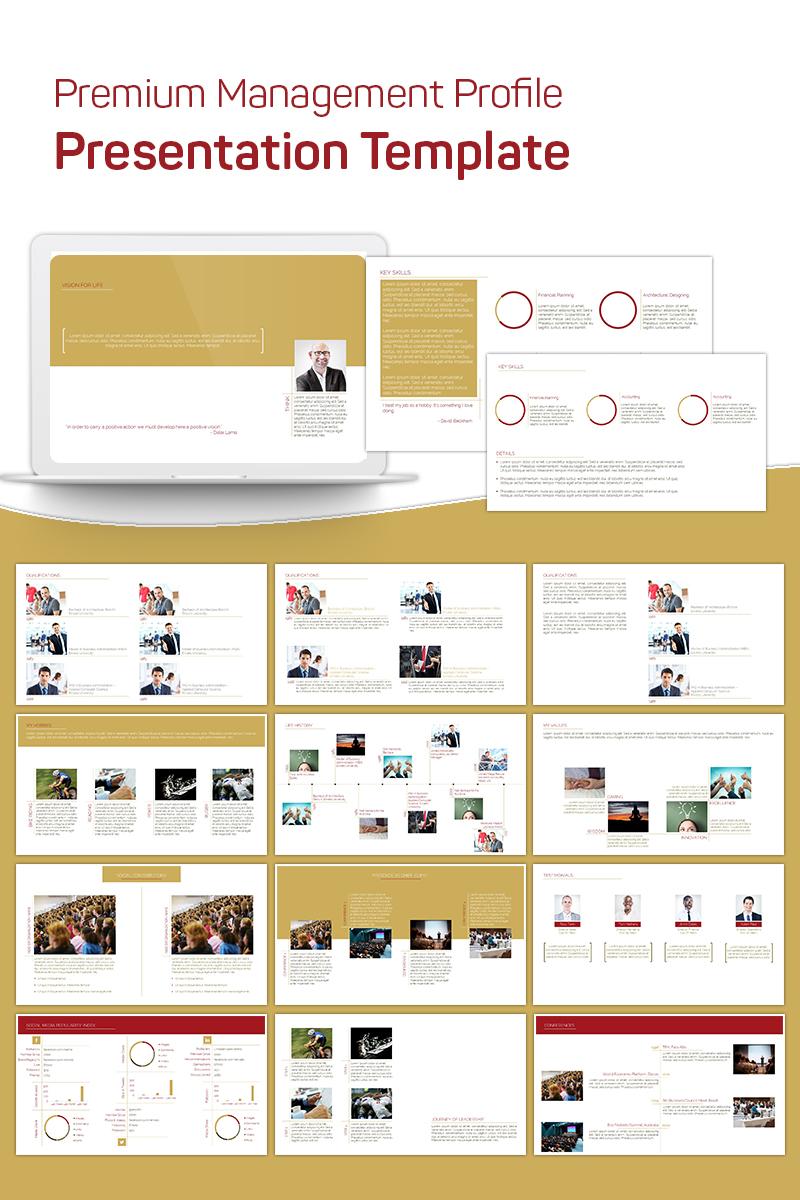 """Plantilla PowerPoint """"Premium Management Profile"""" #75642"""