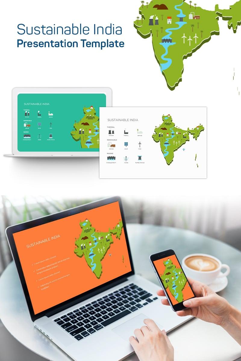 "PowerPoint šablona ""Sustainable India"" #75631 - screenshot"