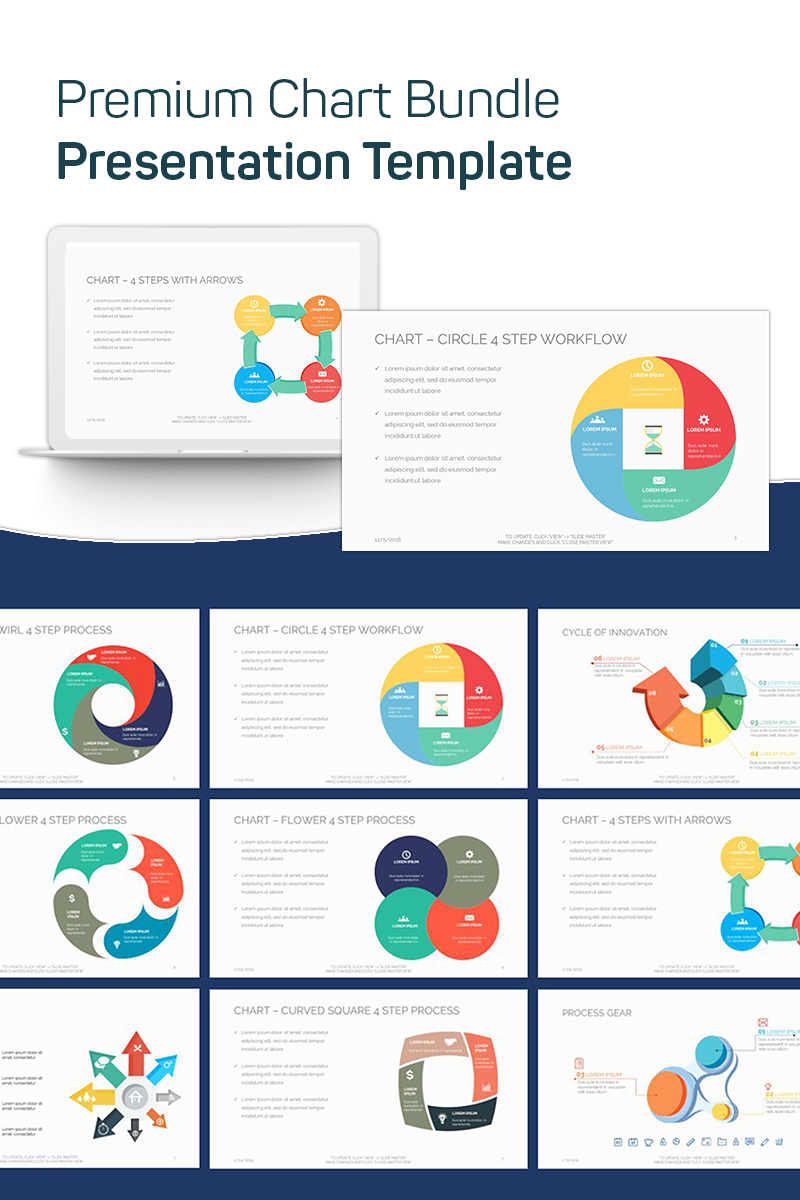 """Premium Chart Bundle"" - PowerPoint шаблон №75639"