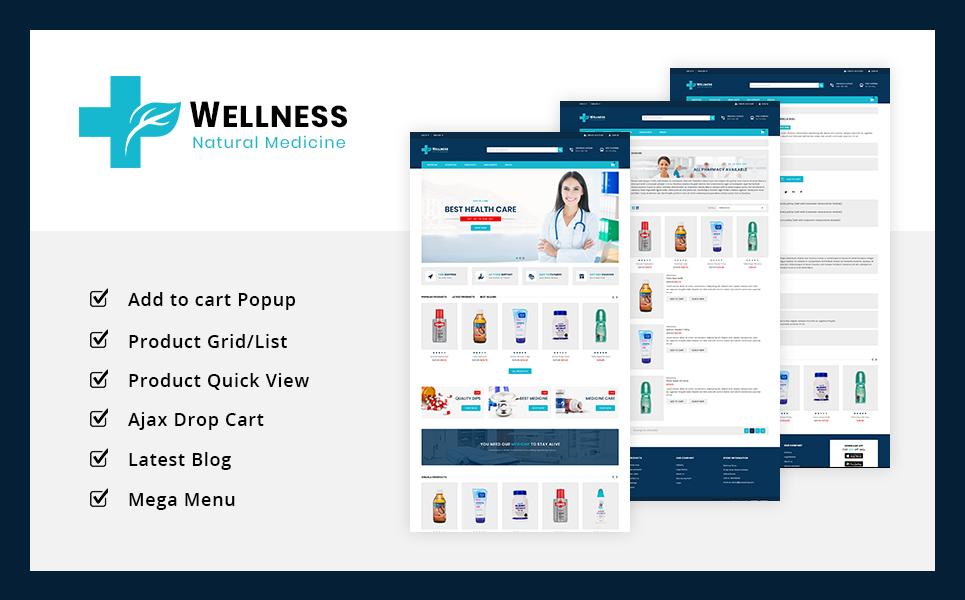 Reszponzív Wellness Medicine Store PrestaShop sablon 75644