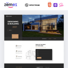 Architecture Landing Page Templates Templatemonster