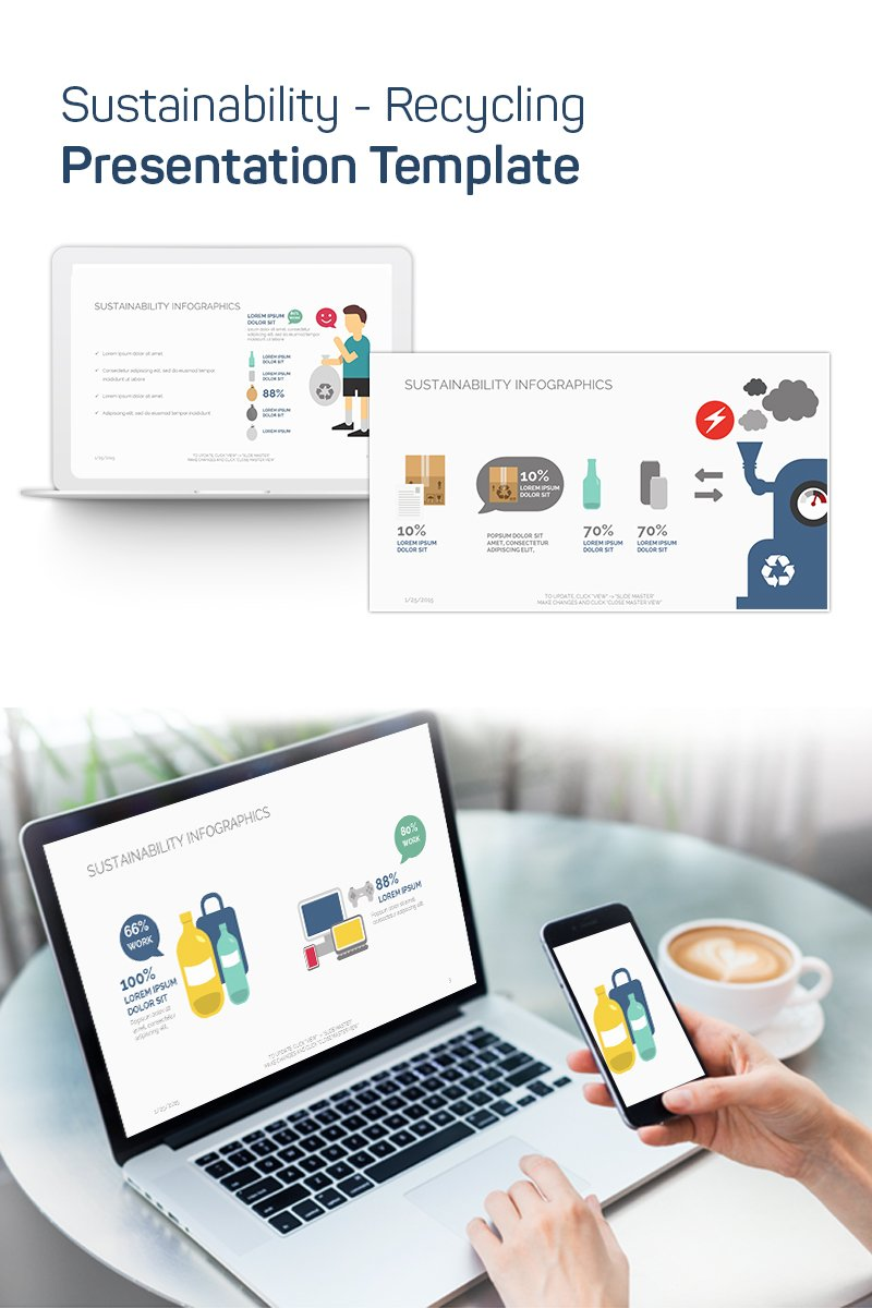"""""""Sustainability - Recycling"""" PowerPoint Template №75633"""