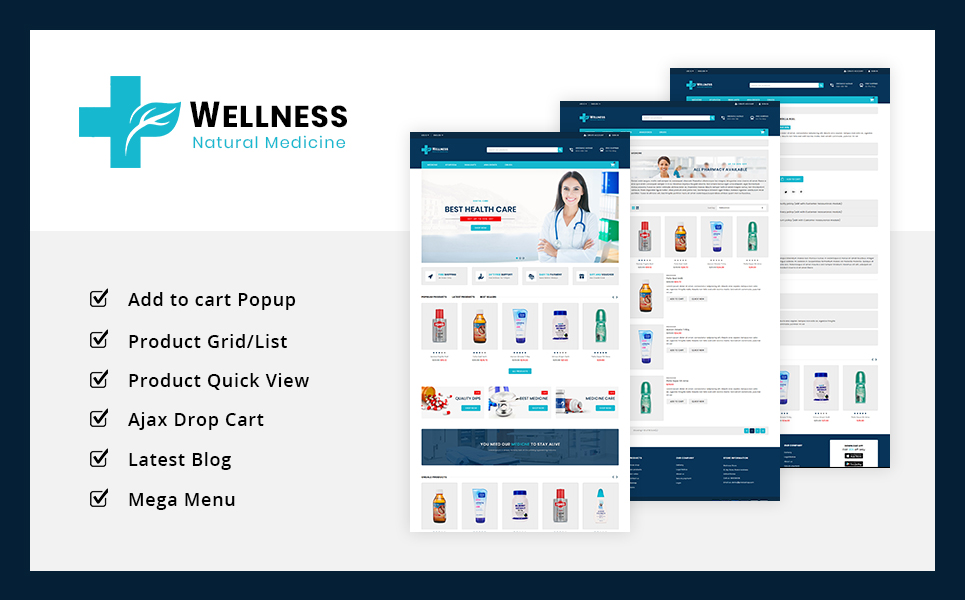 Wellness Medicine Store PrestaShop Theme