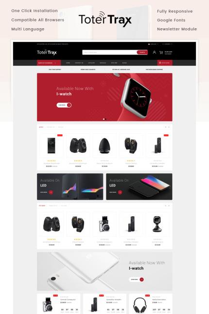 Website Template #75774 Digital Electronics Mobile Custom