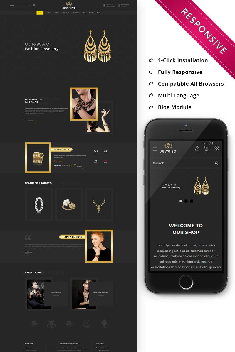 Website Design Template 75789 - store bootstrap clothes ecommerce fashion food fullscreen jewellery mega modern multipurpose theme responsive shopping sportswear