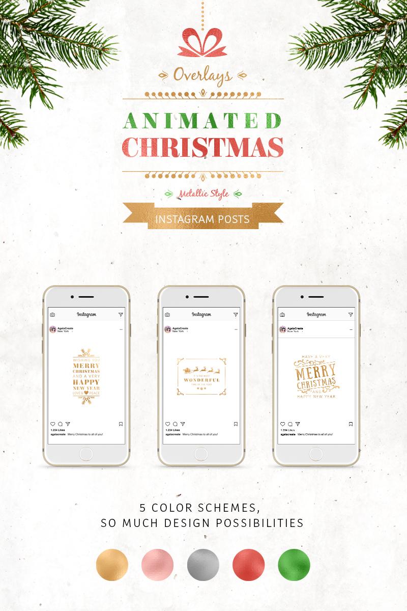 ANIMATED Christmas Posts – Metallic №75729 - скриншот