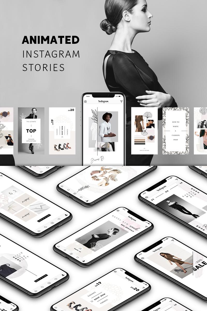 """ANIMATED Instagram Stories – Pure"" - Шаблон для соцмереж №75737"